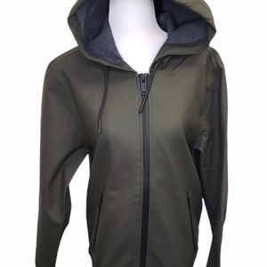 UGG Men's Diego Rubberized Olive Green Raincoat Unisex Extra Small New